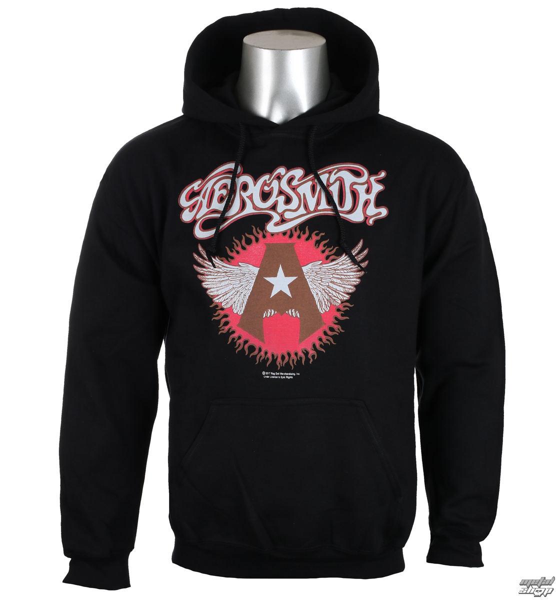 mikina pánská Aerosmith - Flying A Logo - Black - HYBRIS