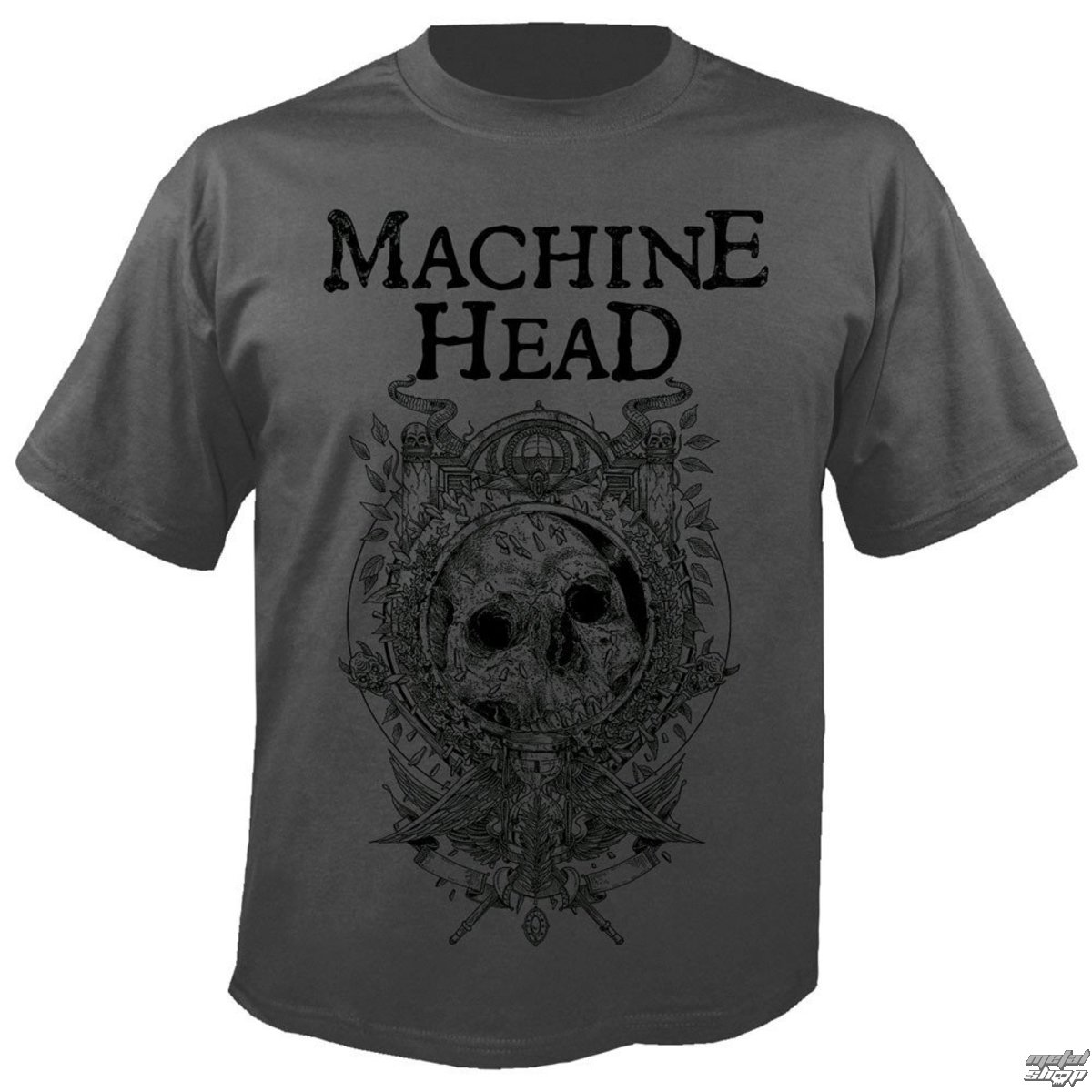 tričko pánské MACHINE HEAD - Clock GREY - NUCLEAR BLAST
