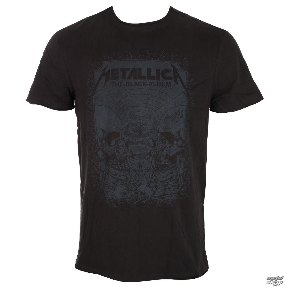 tričko pánské METALLICA - THE BLACK ALBUM - CHARCOAL - AMPLIFIED