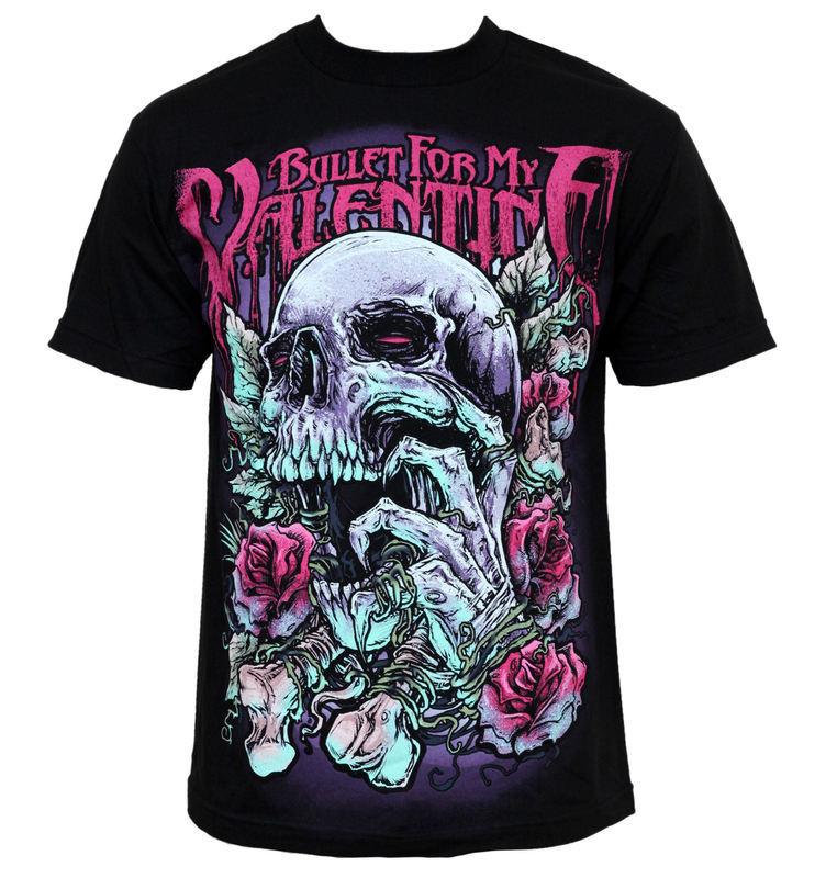 tričko pánské Bullet For My Valentine - Skull RD - BRAVADO