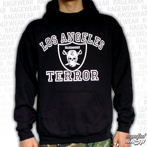 mikina pánská Terror - Los Angeles - Black  - RAGEWEAR