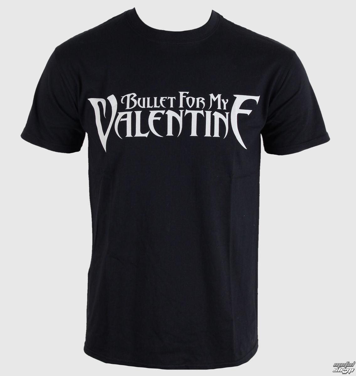 tričko pánské Bullet For My Valentine - Logo - Black - BRAVADO EU