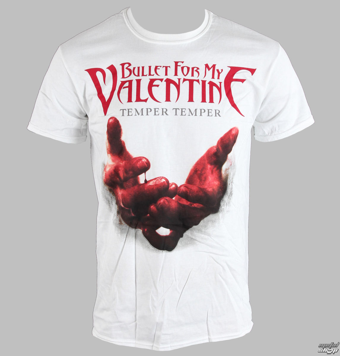 tričko pánské Bullet For My Valentine - Temper Temper Blood Hands - BRAVADO EU