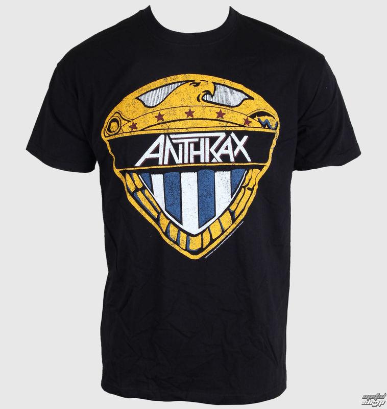 tričko pánské Anthrax - Eagle Shield -  Black - ROCK OFF