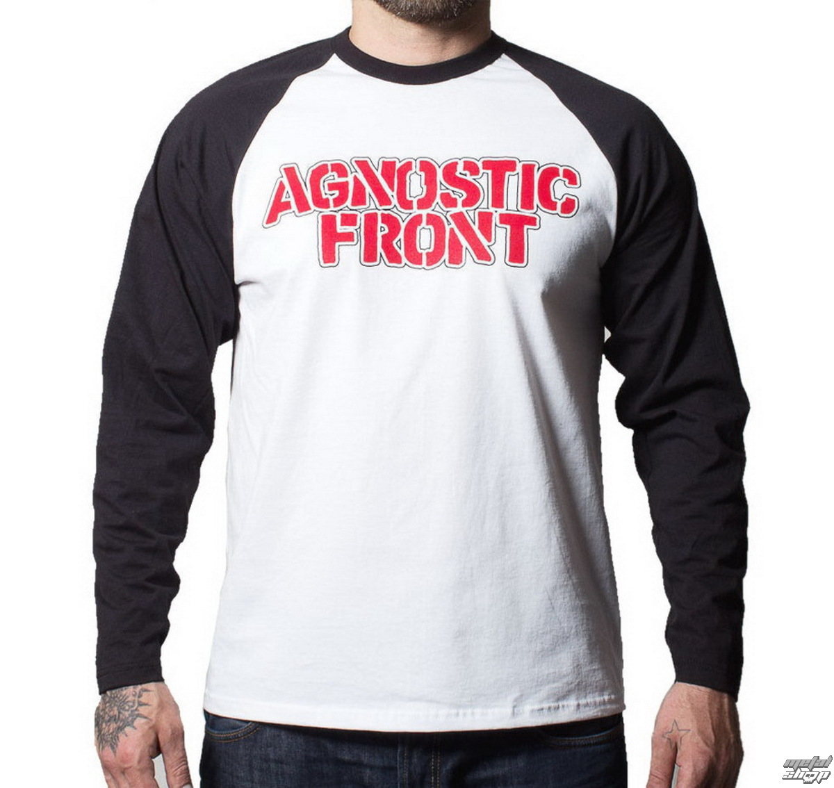 tričko pánské s dlouhým rukávem Agnostic Front - Never Walk Alone - BUCKANEER - Black/White