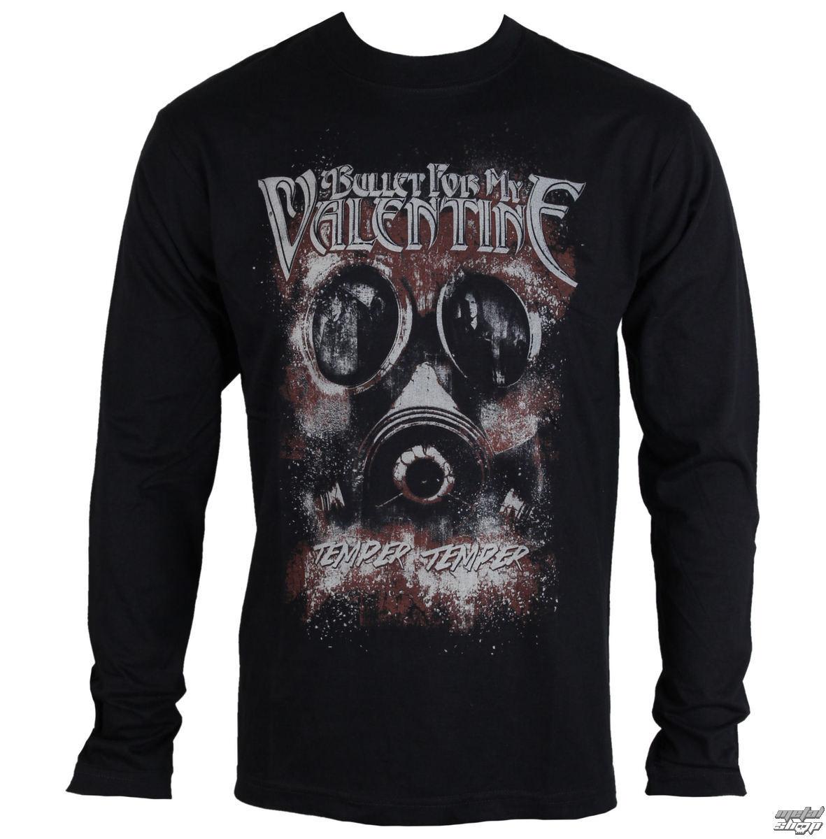 tričko pánské s dlouhým rukávem Bullet For my Valentine - Temper Temper Gas Mask - ROCK OFF