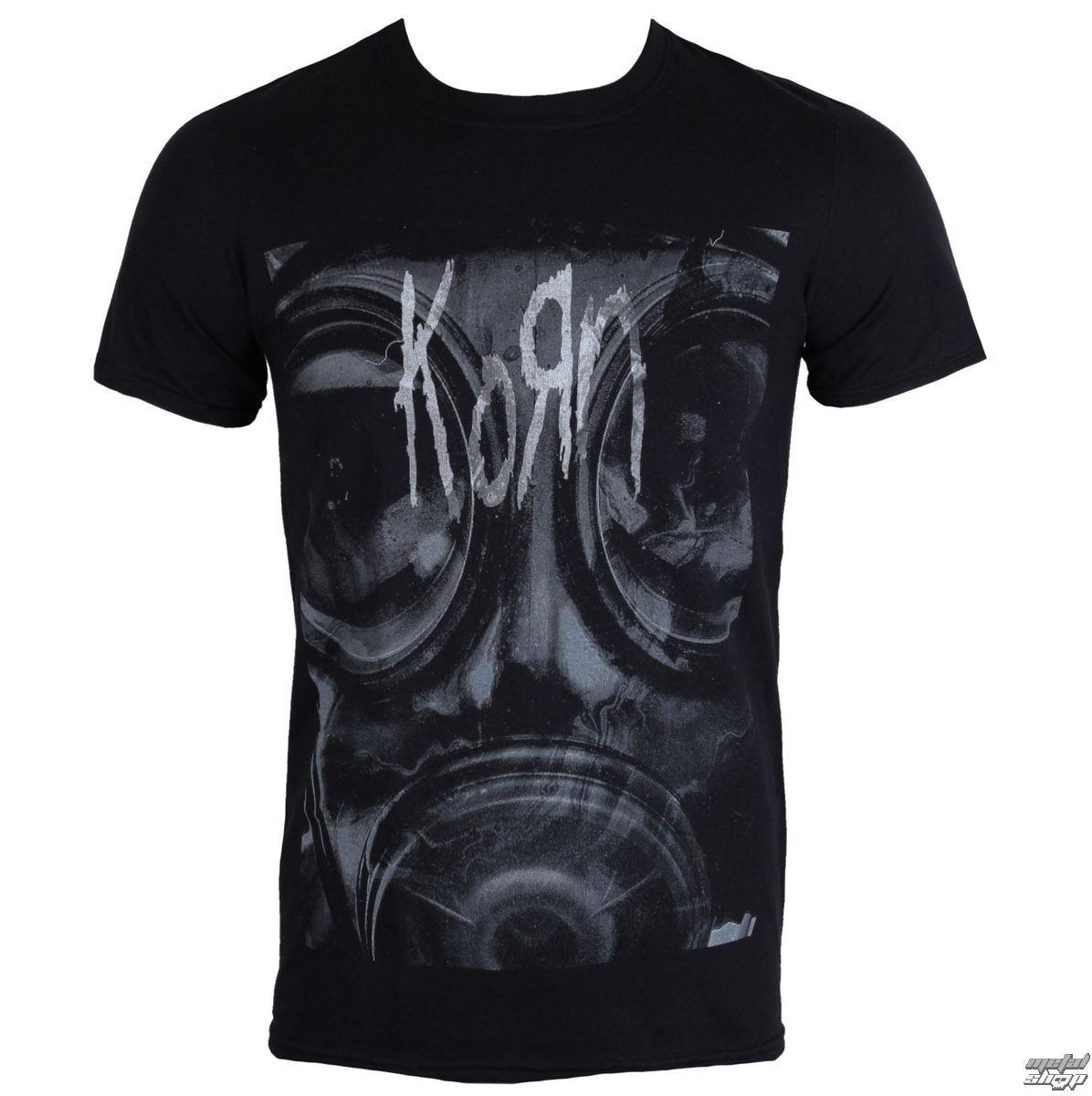 tričko pánské Korn - Gas Mask - PLASTIC HEAD