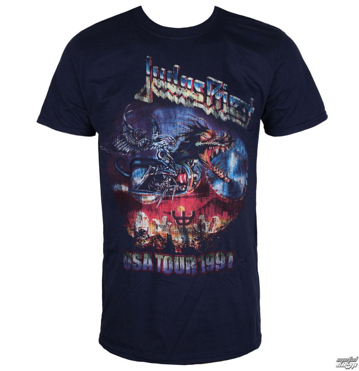 tričko pánské Judas Priest - Painkiller US Tour 91 - Navy - ROCK OFF