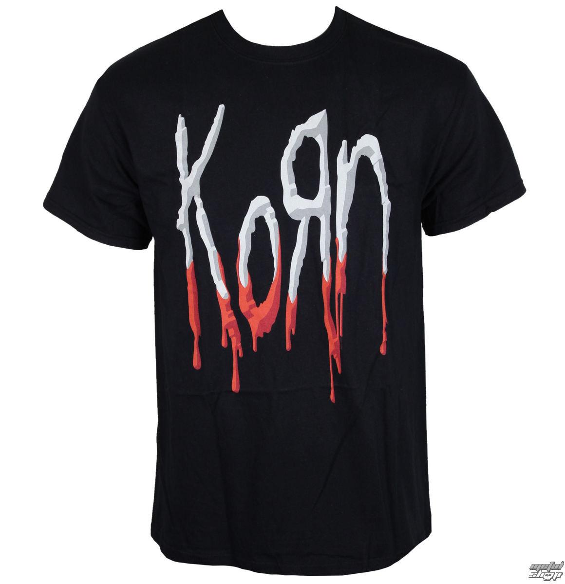 tričko pánské Korn - Bloody Logo - Black