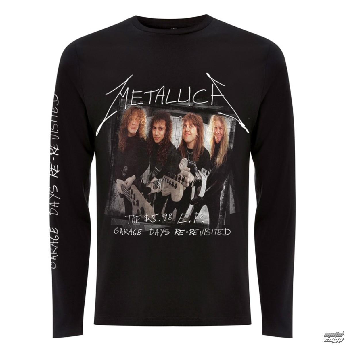 tričko pánské s dlouhým rukávem Metallica - Garage Cover - Black