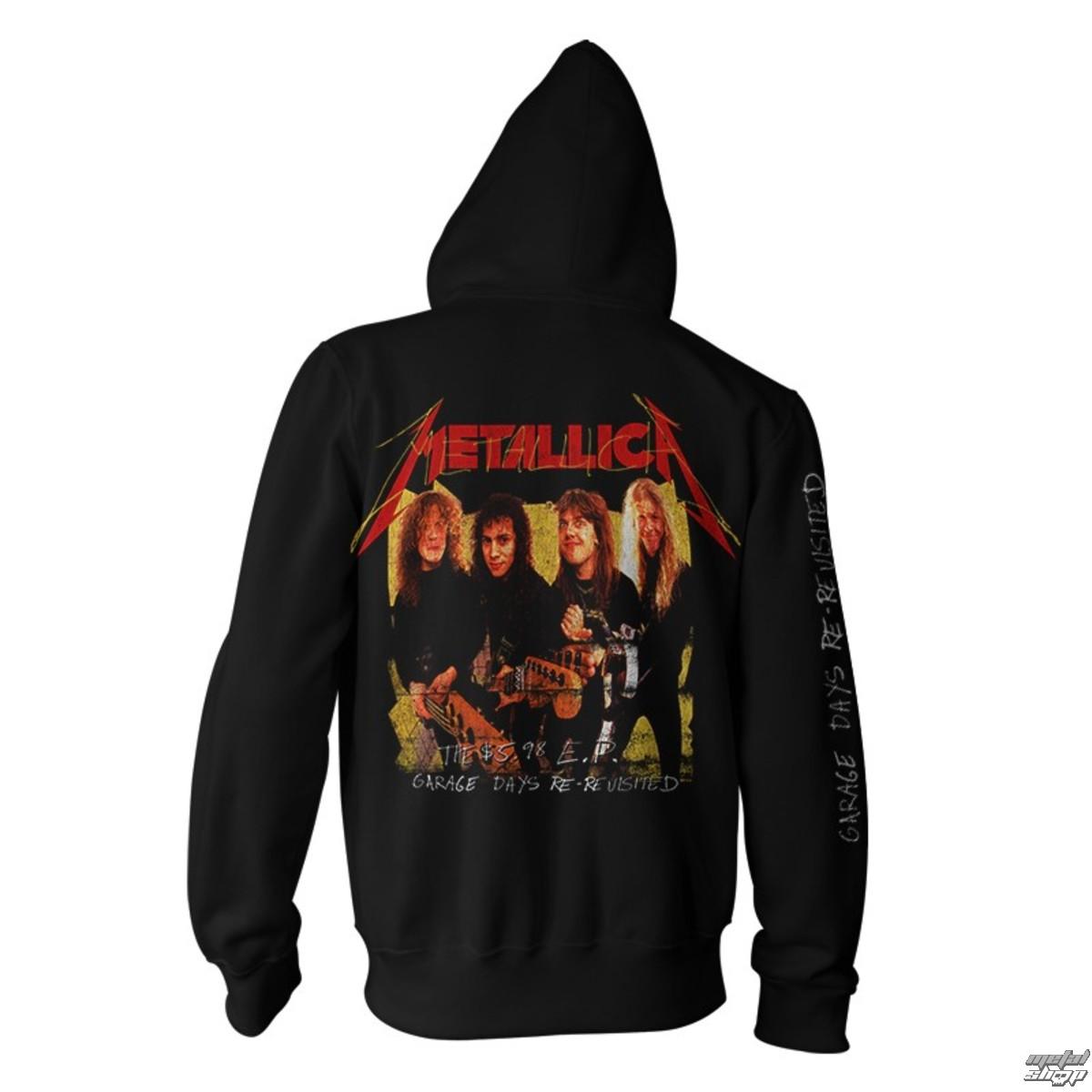 mikina pánská Metallica - Garage Photo - Yellow Black