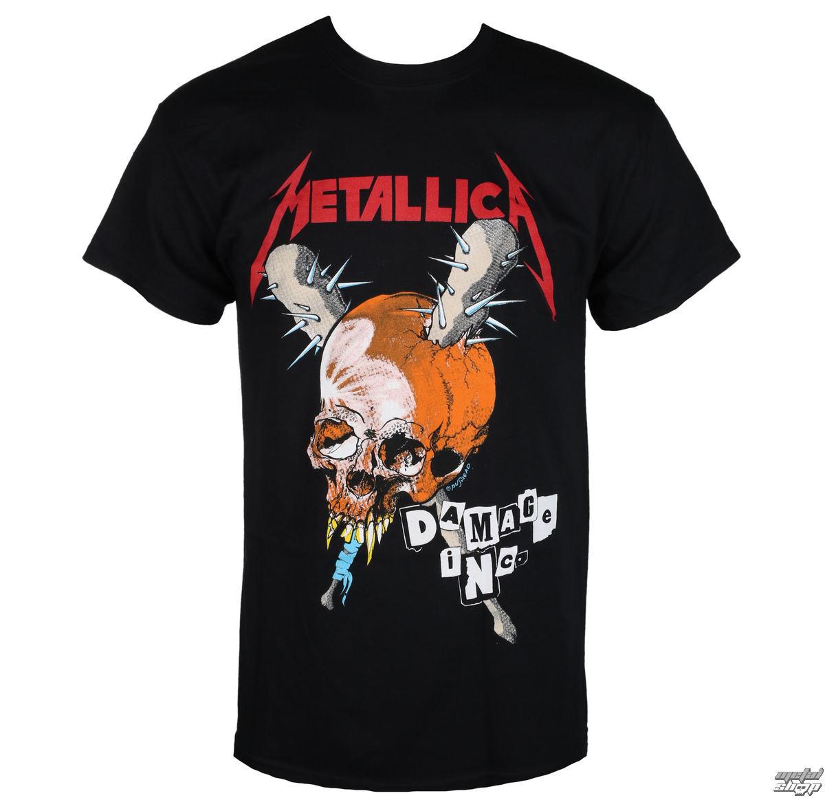 tričko pánské Metallica - Damage Inc - Black
