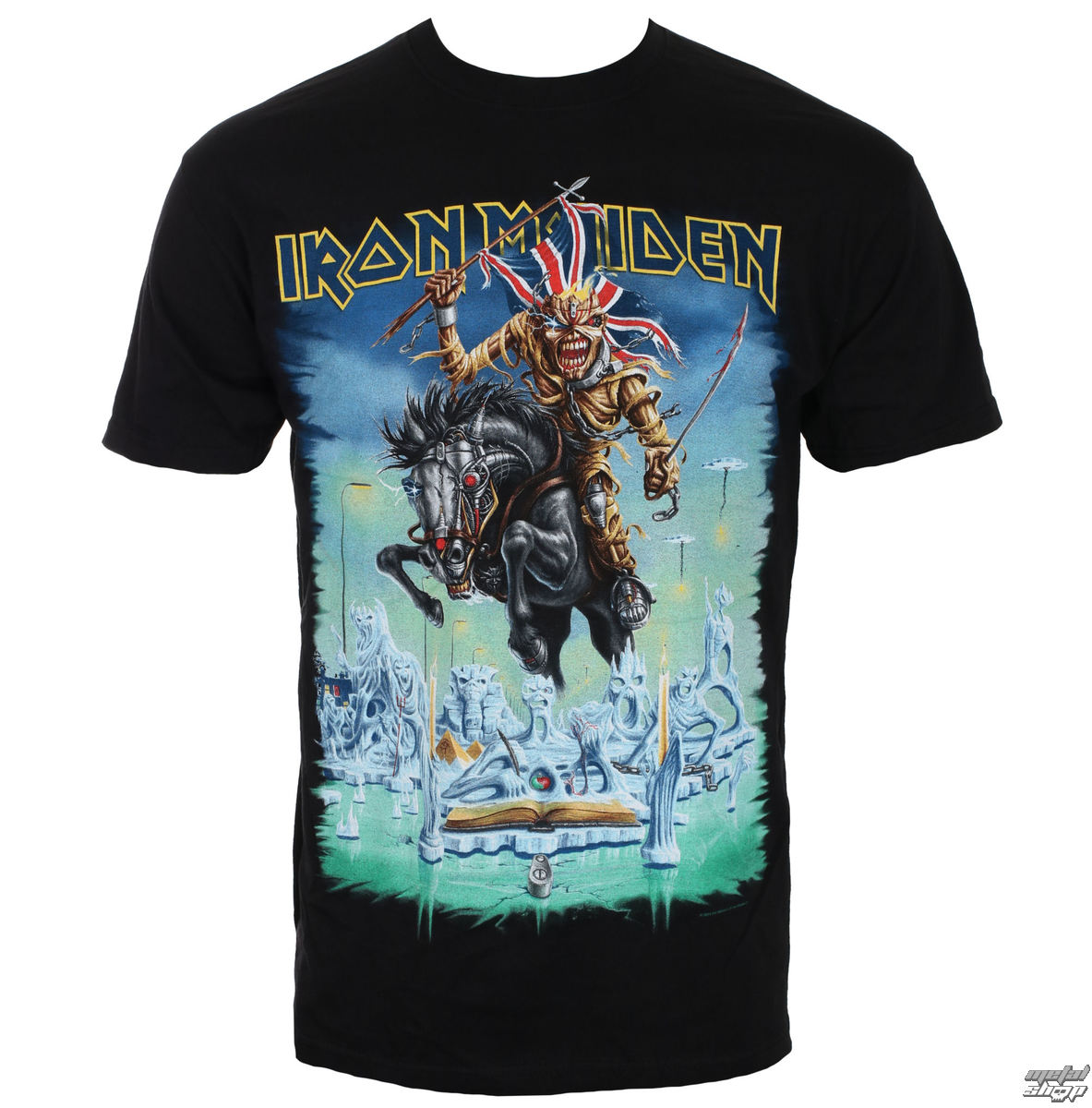 tričko pánské Iron Maiden - Tour Trooper - Black - ROCK OFF