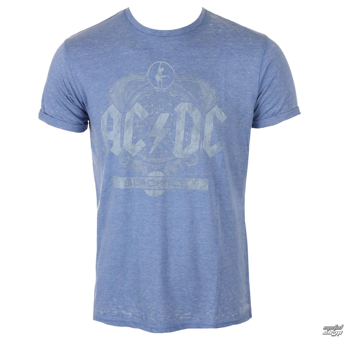 tričko pánské AC/DC - Black Ice - Mid Blue