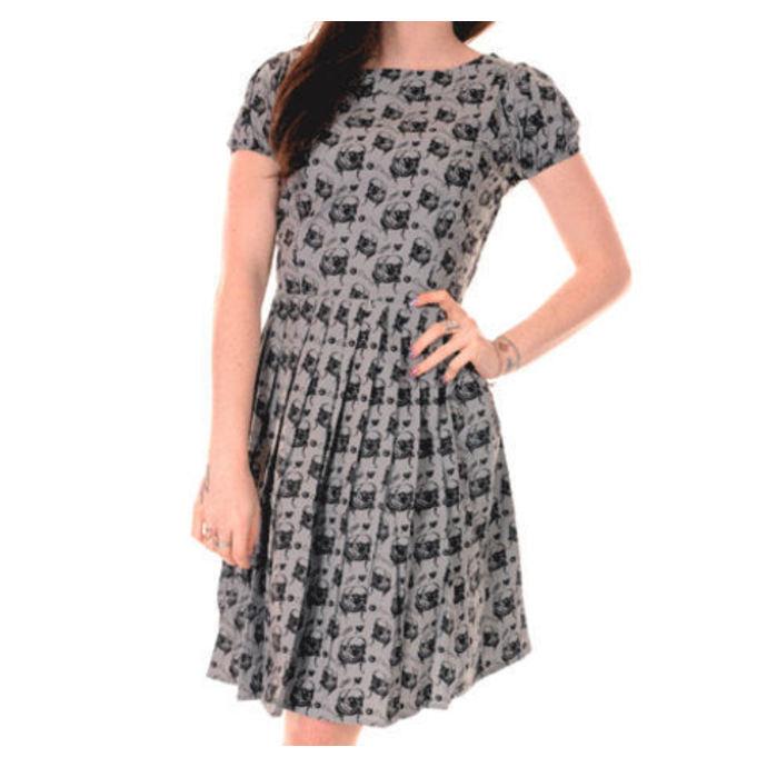 šaty dámské 3RDAND56th - Pleated Pug - Silver/Grey