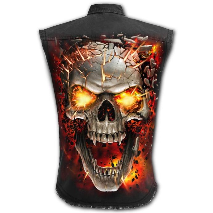 košile bez rukávu (vesta) SPIRAL - SKULL BLAST