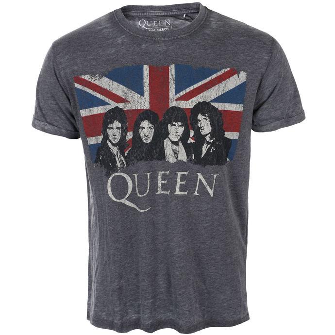 tričko pánské Queen - Vintage Union Jack - ROCK OFF