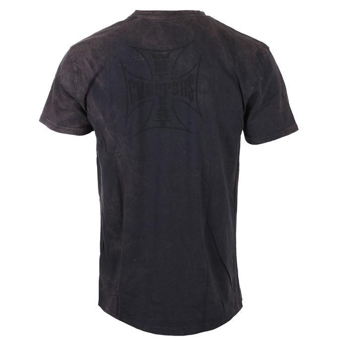 tričko pánské West Coast Choppers - USA LOUD PIPE - Washed black
