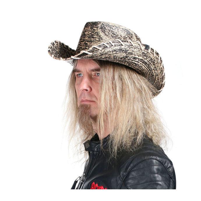 klobouk WORNSTAR - Hellrider HS Black & Natural Rocker Cowboy