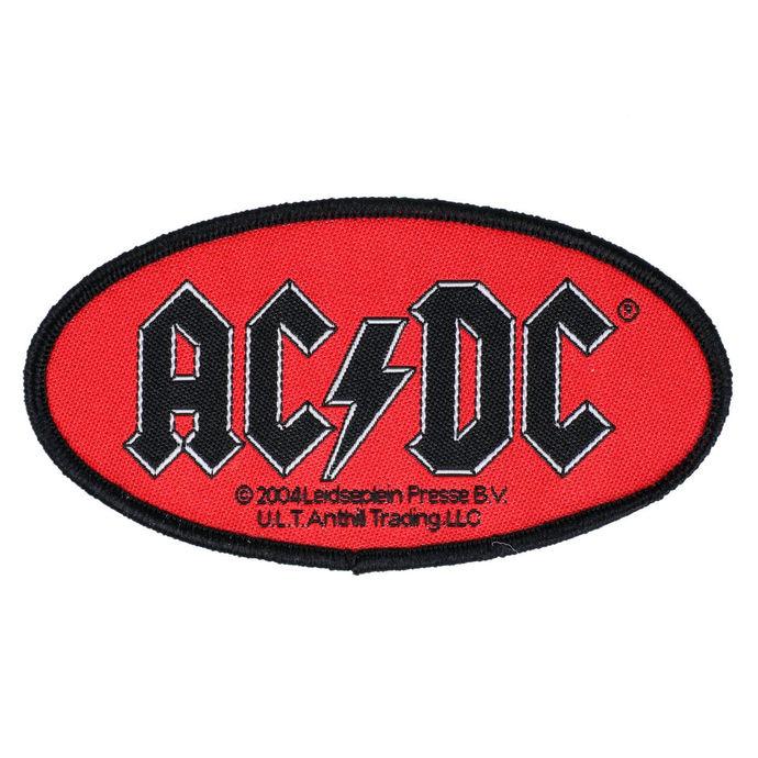 nášivka AC/DC - OVAL LOGO - RAZAMATAZ