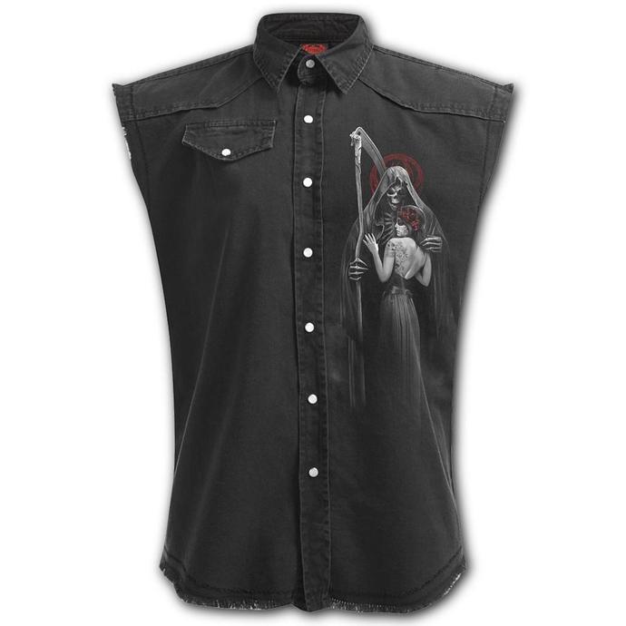 košile pánská bez rukávů SPIRAL - DEAD KISS