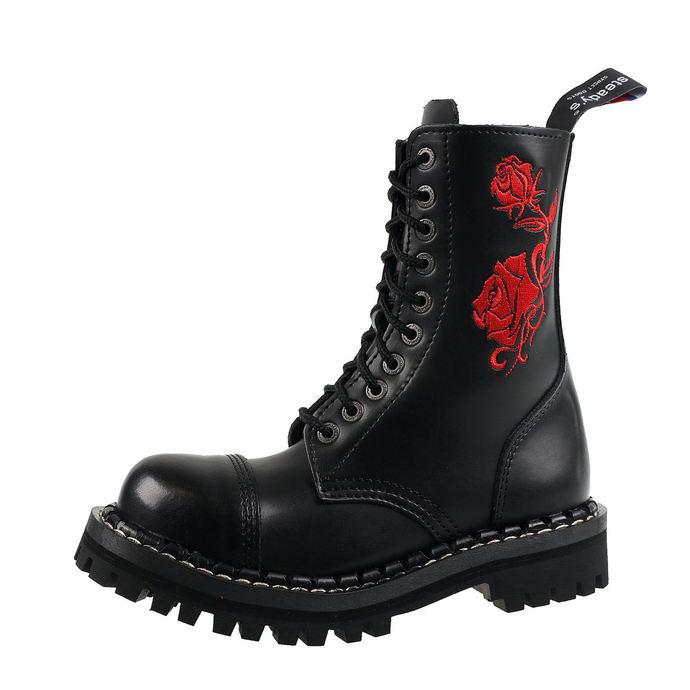 boty STEADY´S - 10 dírkové - Red rose
