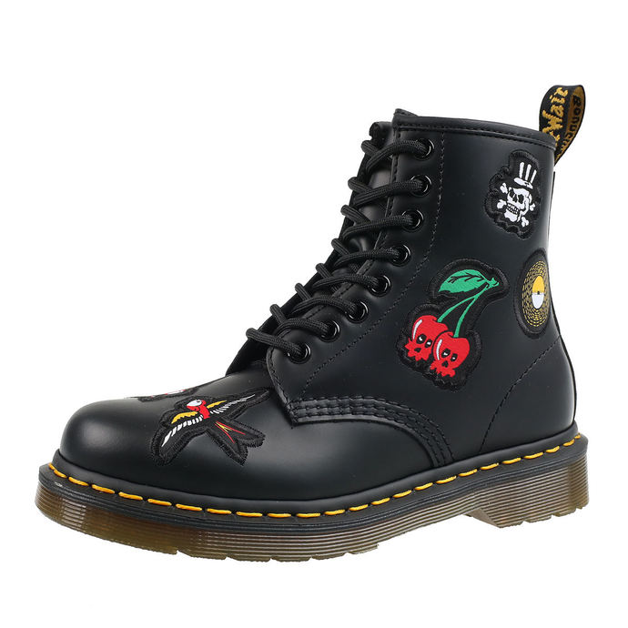 boty DR. MARTENS - 8 dírkové - 1460 SMOOTH - BLACK