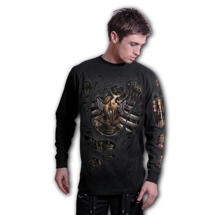 tričko pánské s dlouhým rukávem SPIRAL - STEAM PUNK RIPPED