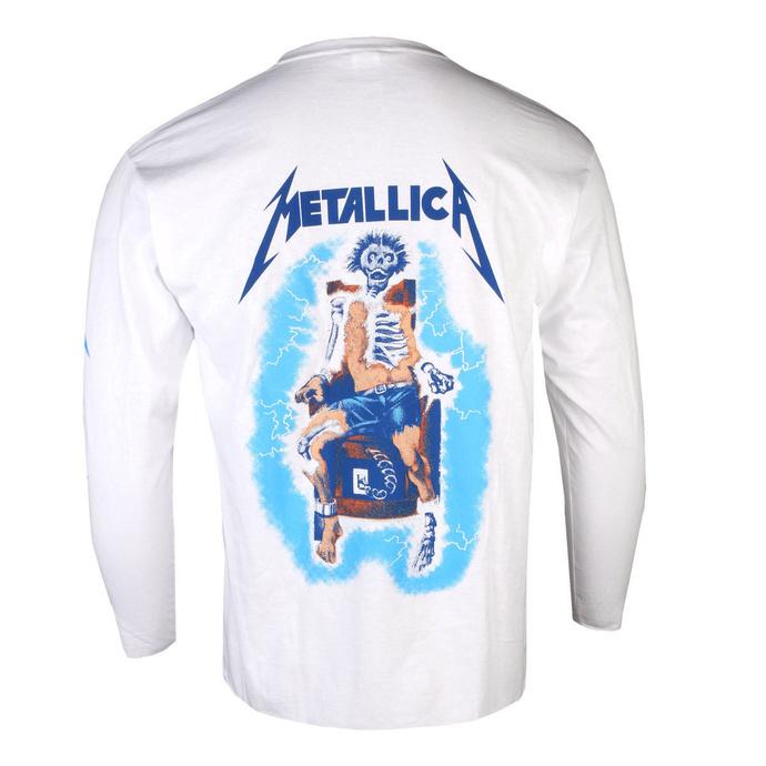 tričko pánské s dlouhým rukávem Metallica - Ride The Lightning - White
