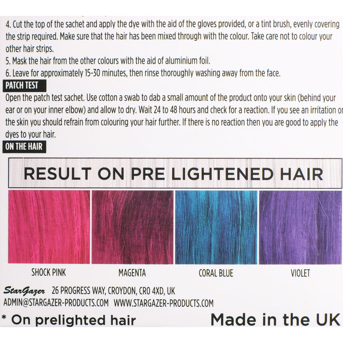 barva na vlasy STAR GAZER - Yummy Colour 4 Colour Strips Kit - Vivid
