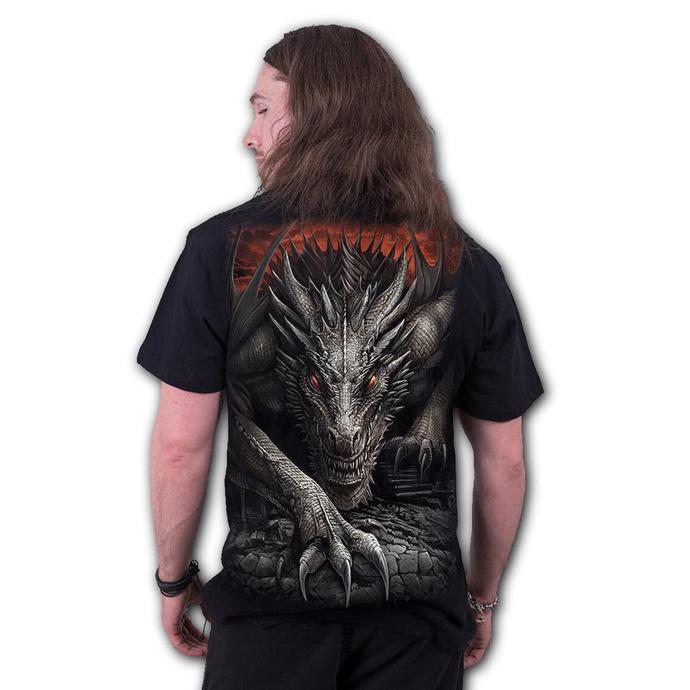 tričko pánské SPIRAL - MAJESTIC DRACO - Black
