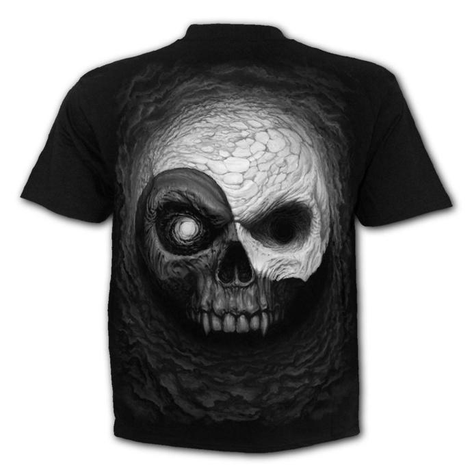 tričko pánské SPIRAL - YIN YANG SKULLS - Black