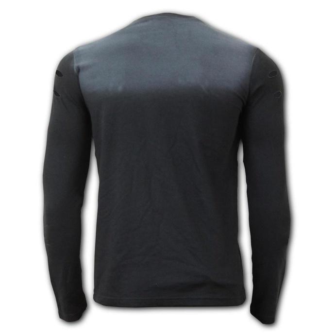 tričko pánské s dlouhým rukávem SPIRAL - URBAN FASHION - Distressed Spray