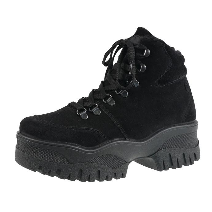 boty zimní ALTERCORE - Pamela Black Faux Suede