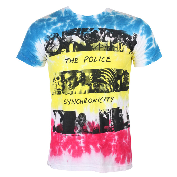 tričko pánské The Police - SYNCHRONICITY - LIQUID BLUE