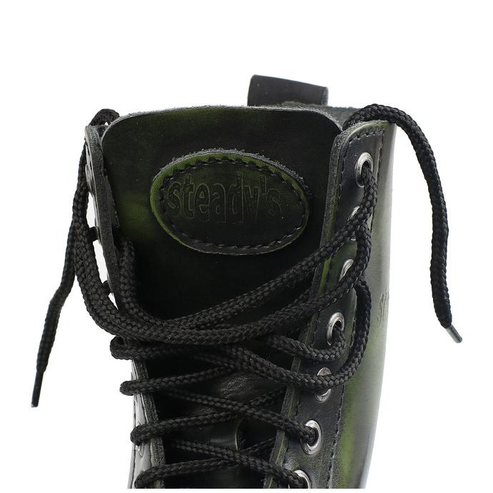 boty STEADY´S - 10 dírkové - Khaki black