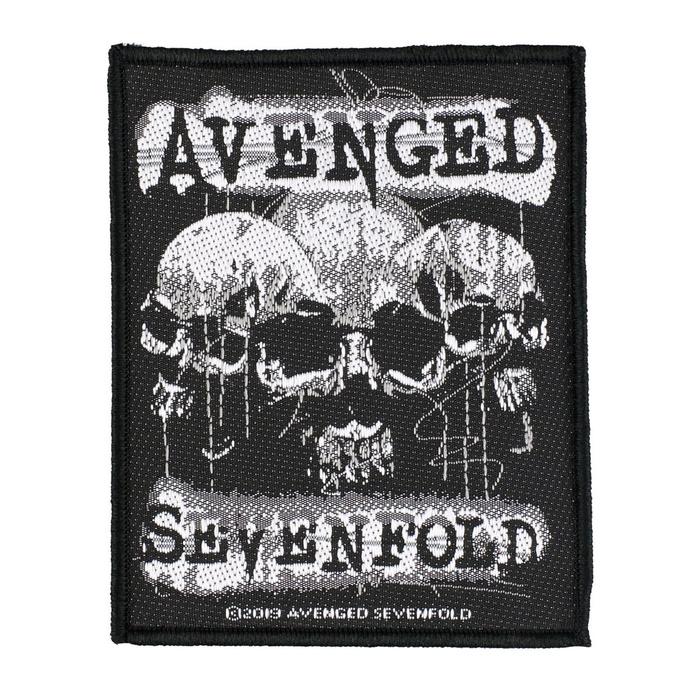 nášivka Avenged Sevenfold - 3 Skulls - RAZAMATAZ