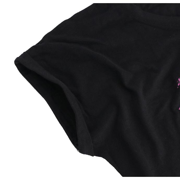 tričko dámské Metallica - Flower Skull - Pink Logo - Black