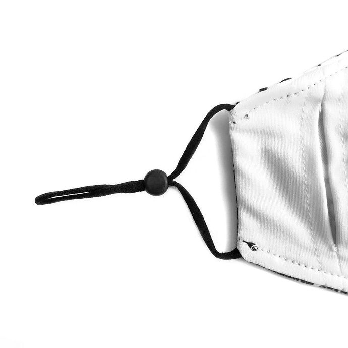 rouška (maska) VIXXSIN - CROW - WHITE/BLACK