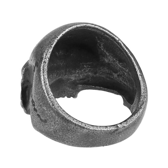 prsten ETNOX - Gun Metal Skull