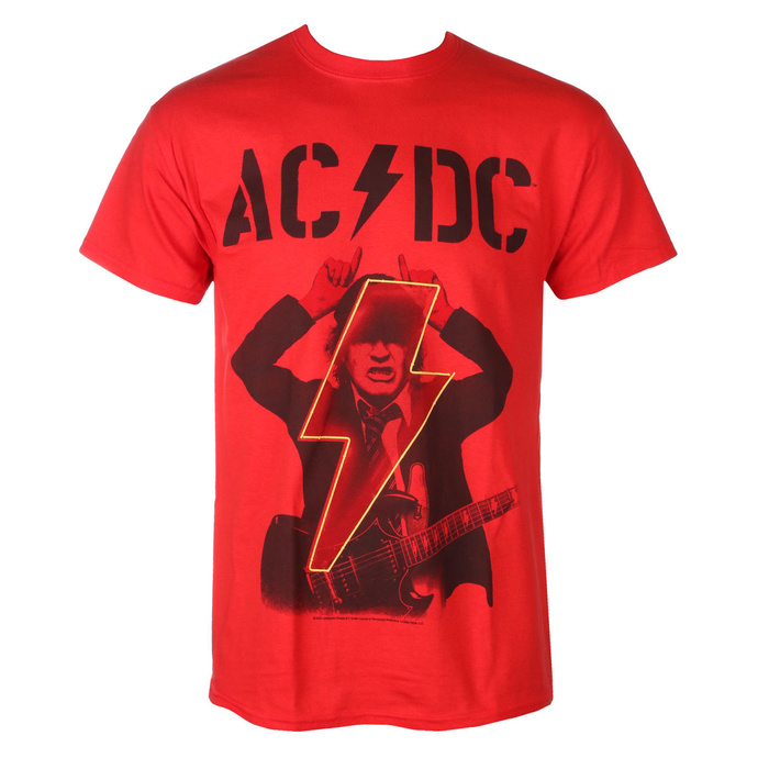 tričko pánské AC/DC - Angus - POWER UP - Red - RAZAMATAZ