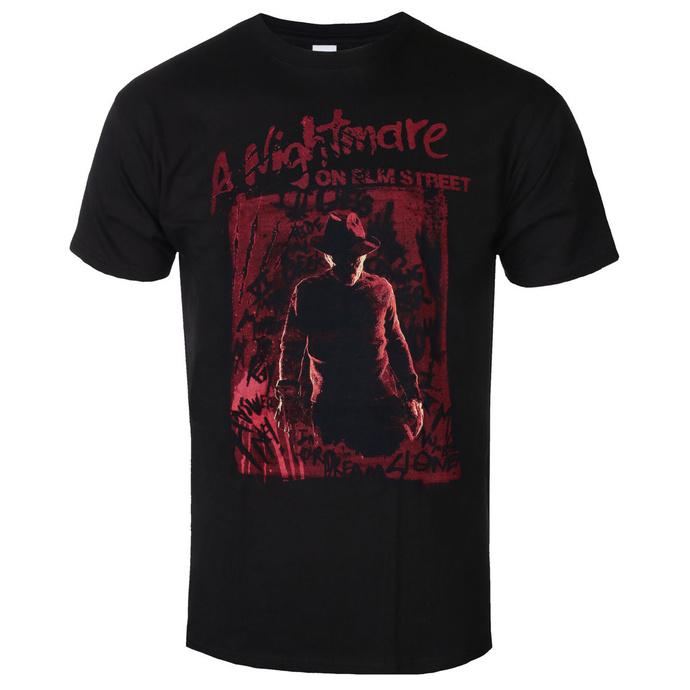 tričko pánské Nightmare On Elm Street - Freddy Silhouette - Black