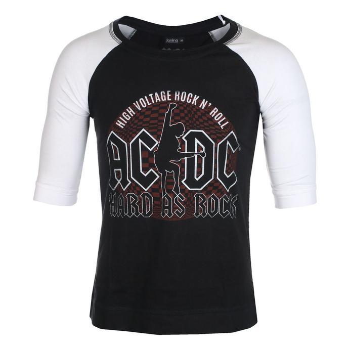 tričko unisex s 3/4 rukávem AC/DC - Hard As Rock - BL/WHT Raglan - ROCK OFF