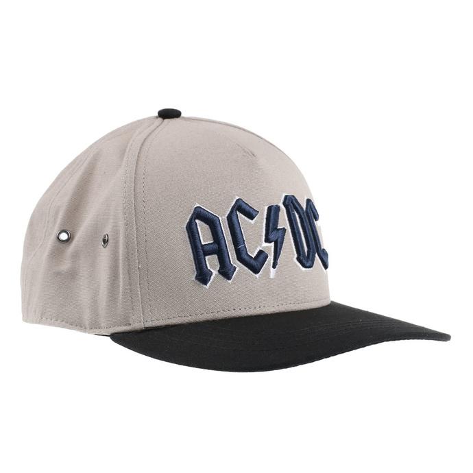 kšiltovka AC/DC - Navy Logo - SAND/BL - ROCK OFF