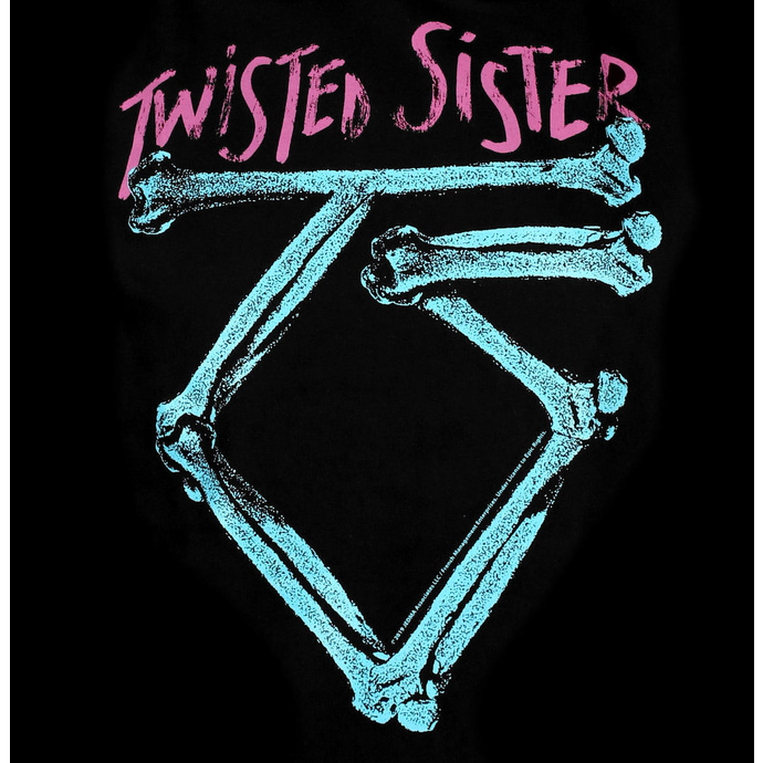 mikina pánská Twisted Sister - Washed Logo Epic - Black - HYBRIS