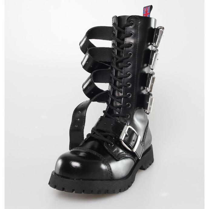 boty NEVERMIND - 14 dírkové - Polido Black - POŠKOZENÉ