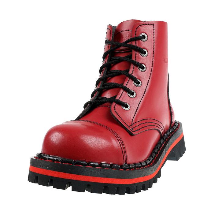 boty STEADY´S - 6 dírkové - Red - STE/6/PAS_red - POŠKOZENÉ
