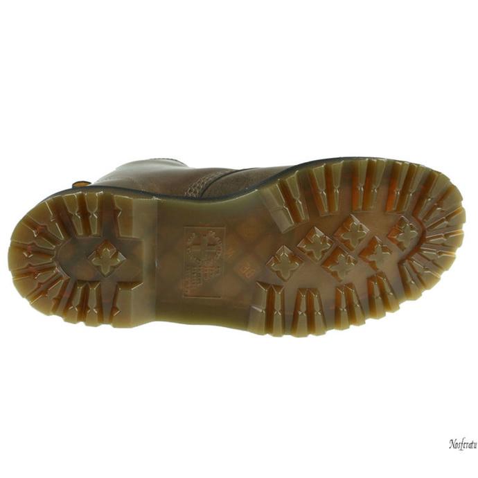 boty DR. MARTENS - 8 dírkové - 1460 - Dark taupe - Orleans - DM23167302 - POŠKOZENÉ