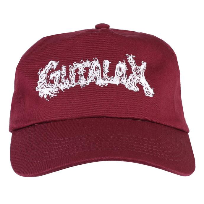kšiltovka GUTALAX - burgundy - white - ROTTEN ROLL REX