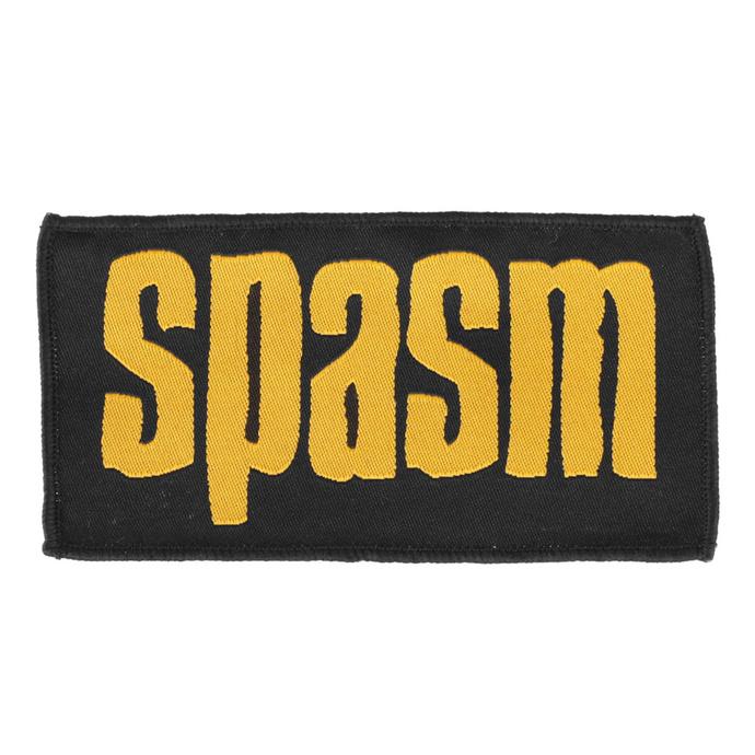 nášivka SPASM - yellow Logo - gewebter Patch - ROTTEN ROLL REX
